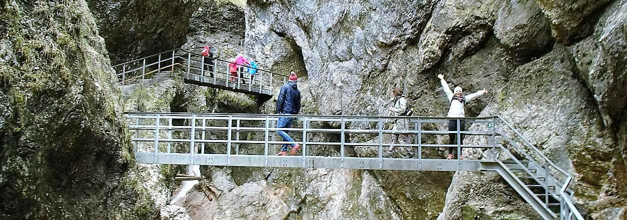 Firmen Erlebnisangebote, die Almbachklamm bei Berchtesgaden