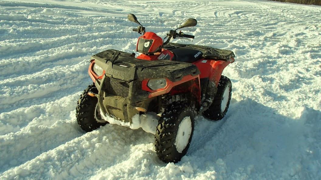 Winter, Quad fahren