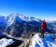 Schneeschuhwandern auf dem Jenner mit einem tollen Blick auf den Nationalpark Berchtesgaden