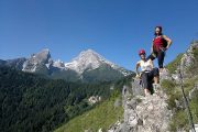 Teamevent am Klettersteig