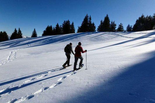 Schneeschuhwanderung in Südbayern