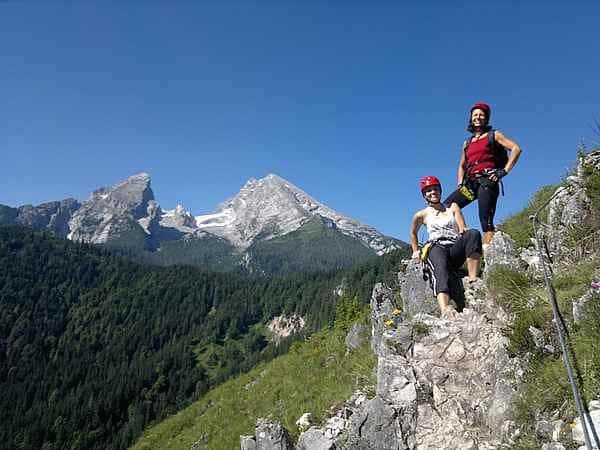 Teambuilding und Teamtraining am Klettersteig