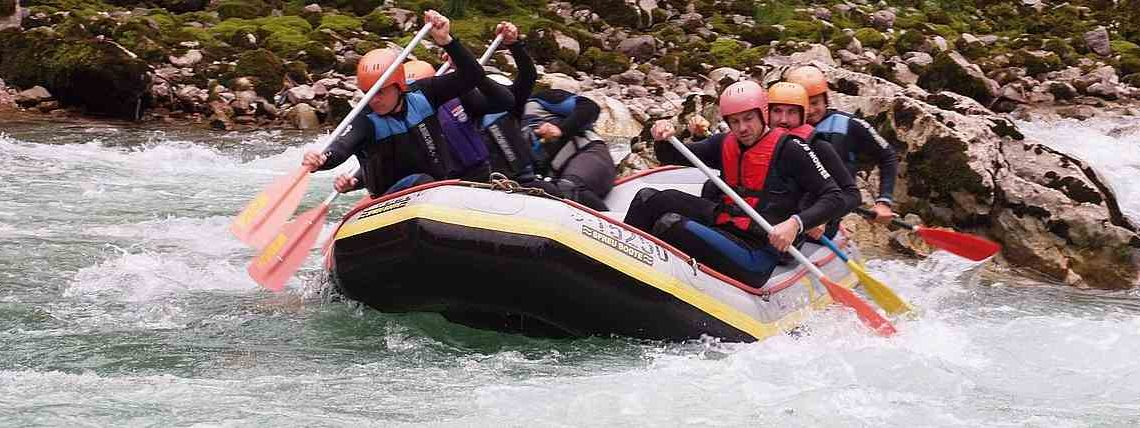 Rafting für Teamevent zum Teambuilding