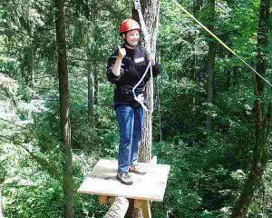 Wald-Hochseilgarten, Kletterwald Berchtesgaden, Königssee, Events für Lehrlinge, Events für Auszubildende