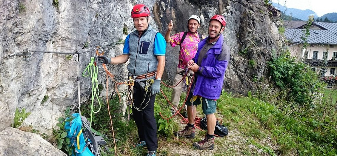 Alpin-Guide für Klettersteige.