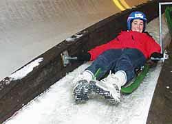 Rodeln als Incentive im Winter auf der Kunsteisbahn am Königssee