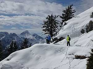 Schneeschuhwandern am Jenner