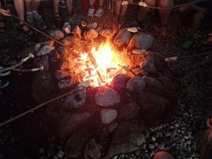 Teamparcours Teambuilding Teamklausur, Lagerfeuer