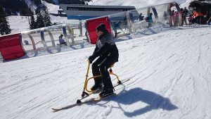 Original Snowbike C4, Teamevent im Winter