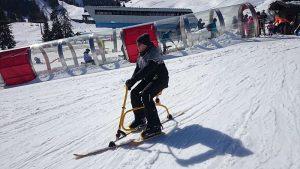 Original Snowbike C4, Teamevent im Winter