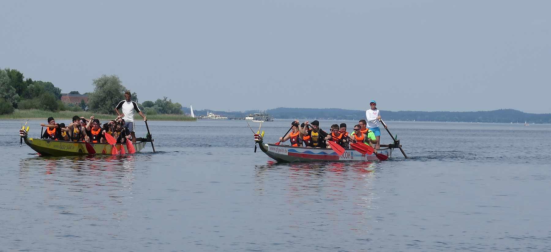 Teamevnets und Betriebsausflug mit dem Drachenboot