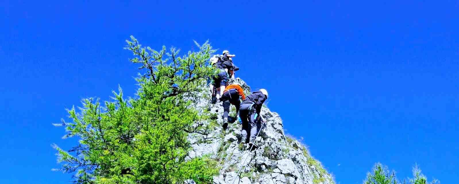 Klettersteig als Teamevent