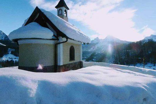 Weihnachtsfeiern oben auf dem Berg